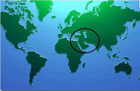 پيامبران همه در محدوده خاص جغرافيايي خاورميانه ظهور كرده اند!!!